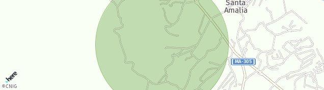 Mapa Santa Amalia de Málaga