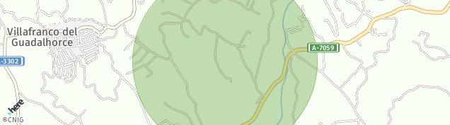 Mapa Villafranco del Guadalhorce
