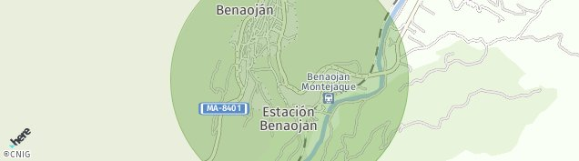 Mapa Benaoján