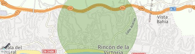 Mapa Rincón de la Victoria