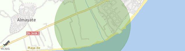 Mapa Almayate Bajo