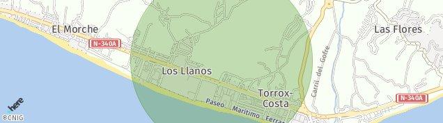 Mapa Los Llanos de Antequera