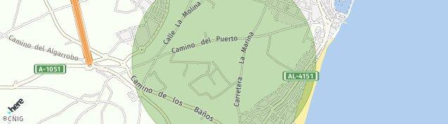 Mapa Urbanizacion Roquetas de Mar