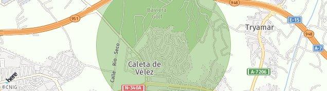 Mapa Caleta de Velez