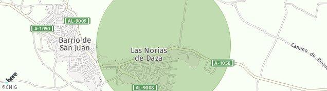 Mapa Las Norias de Daza