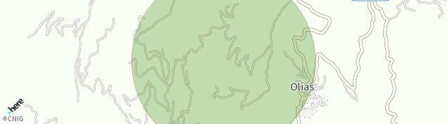 Mapa Olias