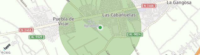 Mapa Las Cabañuelas