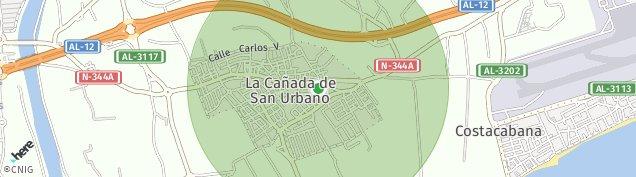 Mapa La Cañada de San Urbano