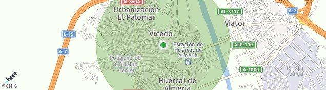 Mapa Huércal de Almería