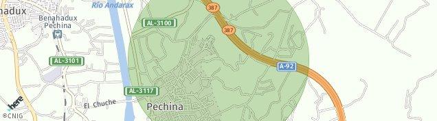 Mapa Pechina