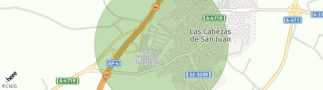 Mapa Las Cabezas de San Juan