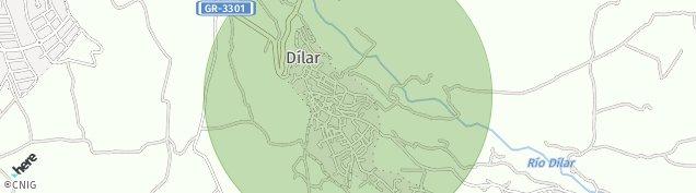 Mapa Dílar