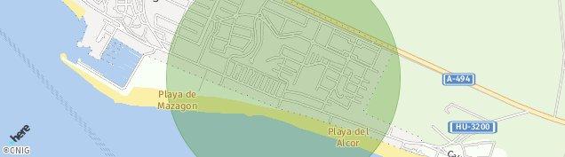 Mapa Mazagon
