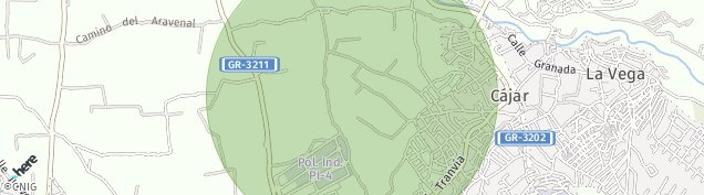 Mapa Cájar