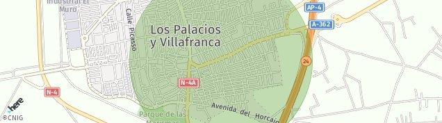 Mapa Los Palacios y Villafranca