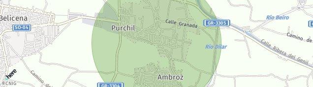 Mapa Purchil