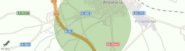 Mapa La Roda de Andalucía