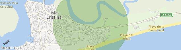 Mapa Isla Cristina