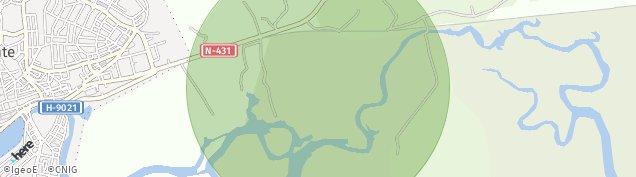 Mapa Ayamonte