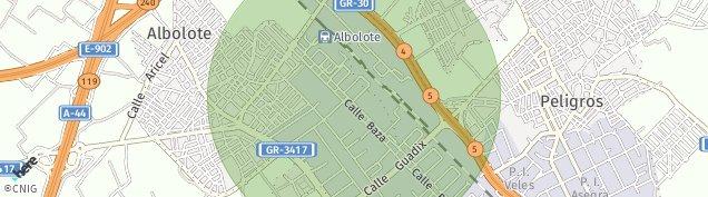 Mapa Albolote