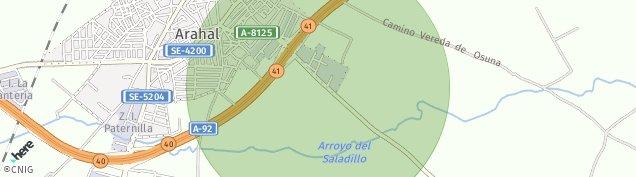 Mapa Arahal