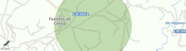 Mapa Fuentes de Cesna