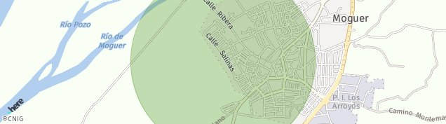 Mapa Moguer