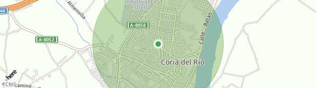 Mapa Coria del Río
