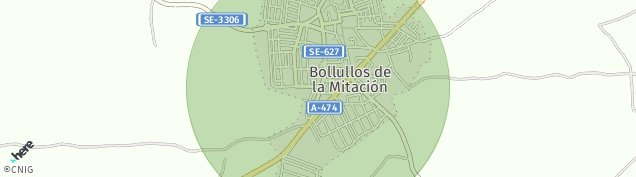 Mapa Bollullos de la Mitación