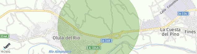 Mapa Olula del Río