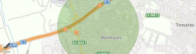 Mapa Bormujos