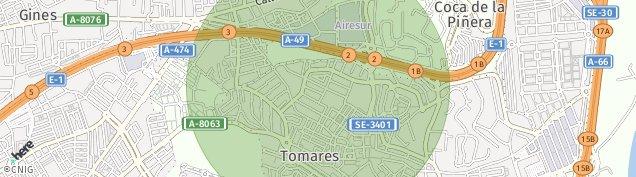 Mapa Tomares