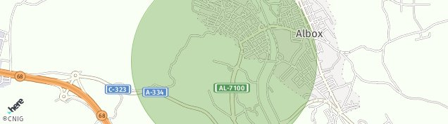 Mapa Albox