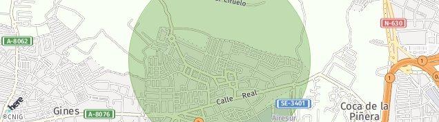 Mapa Castilleja de la Cuesta