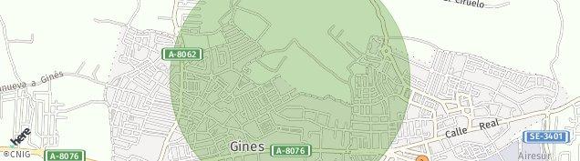 Mapa Gines