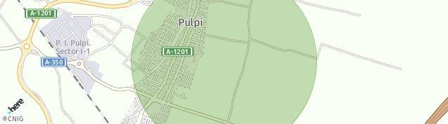 Mapa Pulpí