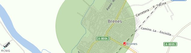 Mapa Brenes