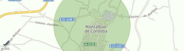 Mapa Montalbán de Córdoba