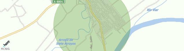 Mapa Villaverde del Río