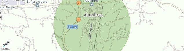 Mapa Alumbres