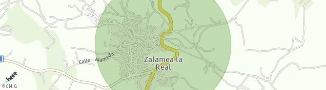 Mapa Zalamea la Real