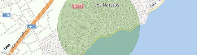 Mapa Los Narejos