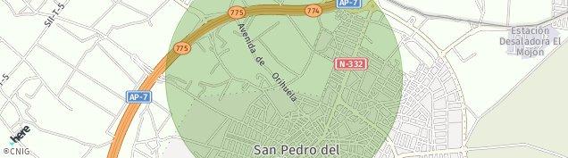 Mapa San Pedro del Pinatar