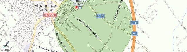 Mapa Alhama de Murcia