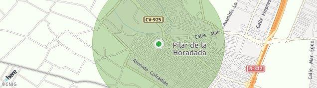 Mapa Pilar de la Horadada