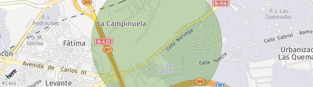 Mapa Campiñuela Baja