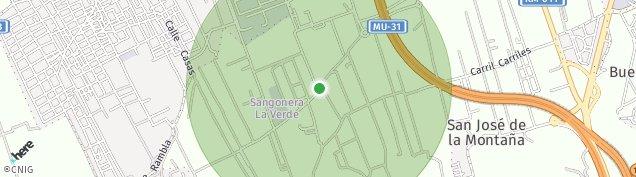 Mapa Sangonera La Verde