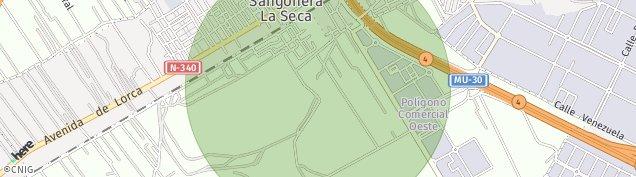 Mapa Sangonera La Seca
