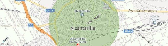 Mapa Alcantarilla