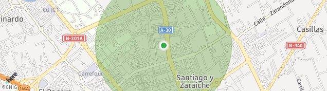 Mapa Santiago y Zaraiche